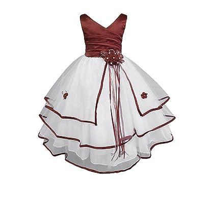 8a1d29ee7f1 AMJ Dresses Inc Little-Girls' Burgundy Flower Girl Holiday Dress K138 Sz 6