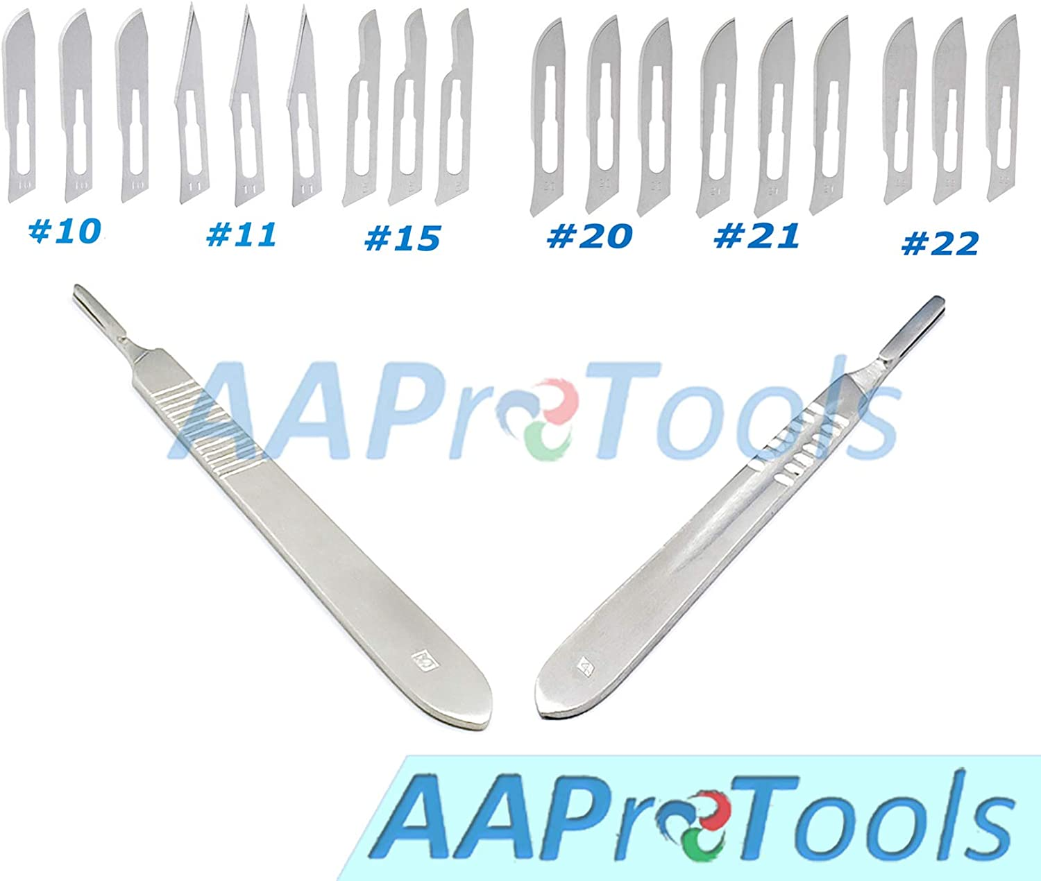 Medic//surgi Instruments//equipment Crafts AAProTools 120 Sterile Scalpel Handle Blades #10#11#15#20# 21#22 1 Free Scalpel Handle #3 And #4 Suitable For Dermaplaning