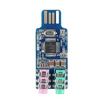 Satbir Alangh Unidad Libre Tarjeta de Sonido USB Computadora ...