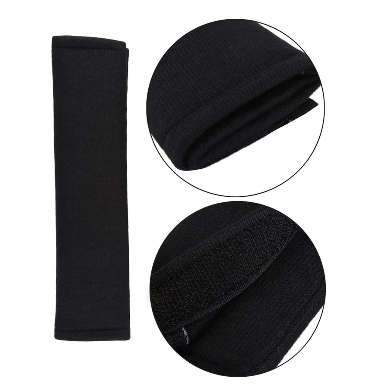Liobaba 2Pcs Car Comfortable Safety Seat Belt Shoulder Pads Cover Soft Cushion