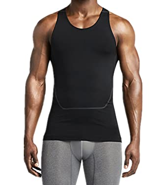 0c69a4d2de Amazon.com: LANBAOSI Men's Breathable Sport Vest Sleeveless Compression Tank  Top: Clothing