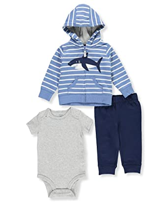 49c80f2a1 Amazon.com  Carter s Baby Boys  3-Pc. Little Jacket Shark Set 6 ...
