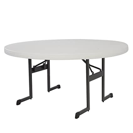 Magnificent Lifetime Products 80125 Professional Round Folding Table 5 Putty Download Free Architecture Designs Grimeyleaguecom