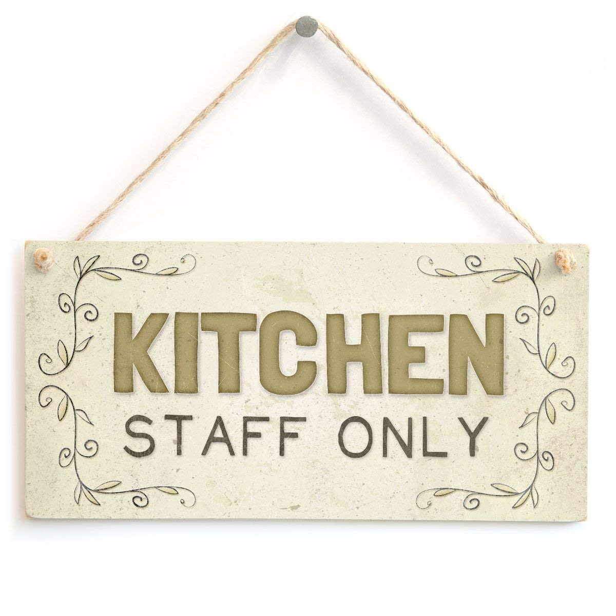 Mr.sign Kitchen Staff Only Cartel de Pared Madera Placa ...
