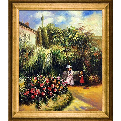 overstockArt The Garden at Pontoise with Athenian Gold Framed Oil Painting, 29