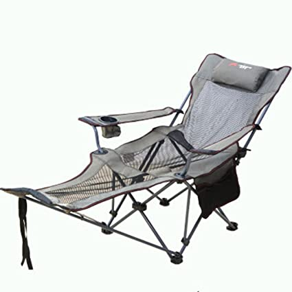 Folding Lounge Chair Dual Use Office Lunch Chair Siesta Bed Outdoor  Portable Beach Chairs Fishing Chair