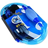 ZZM Siphon Vacuum Water Pump Gravel Sand Cleaner Aquarium Fish Tank Drainer Gravel Cleaner Water Filter Automatic Absorption with Pump and Flow Control Tap