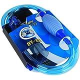 ZZM Siphon Vacuum Water Pump Gravel Sand Cleaner Aquarium Fish Tank Drainer Gravel Cleaner Water Filter Automatic…