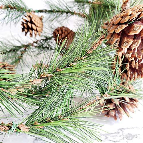 TRvancat Pine Cone Garland 8FT for Christmas Decor