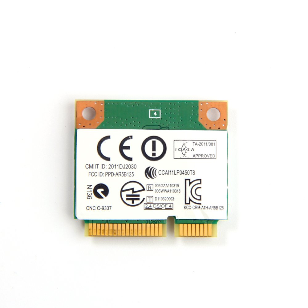 Atheros AR5B125 for Acer Aspire 7739 802.11 b/n Half-Height Wireless Mini PCI-E Card DW1506