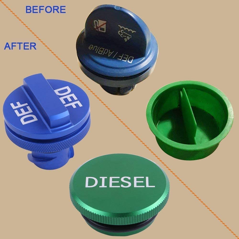 Magnetic Ram Diesel Billet Aluminum Fuel Cap for 2013-2018 Dodge Ram Truck 1500 2500 3500 /… Diesel Fuel Cap for Dodge(Strong magnetism)