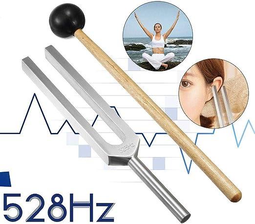 Iashion 528 Hz Frecuencia de Amor Set de curaci/ón milagrosa Horquilla de afinaci/ón de frecuencia