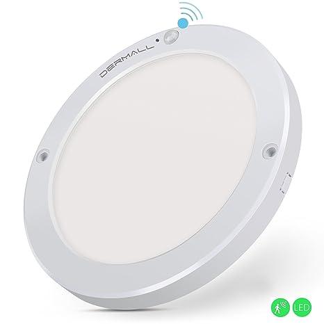Dermall - Lámpara de techo o pared con sensor de movimiento, 18 W, para
