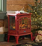 Panoramic Quartz Infrared Stove Heater, in Red