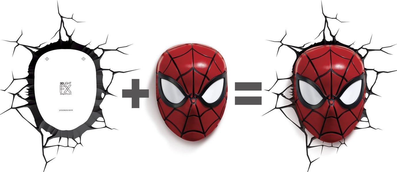 Light 3D FX Licht Marvel Spider-Man 3D Deco LED Wandleuchte