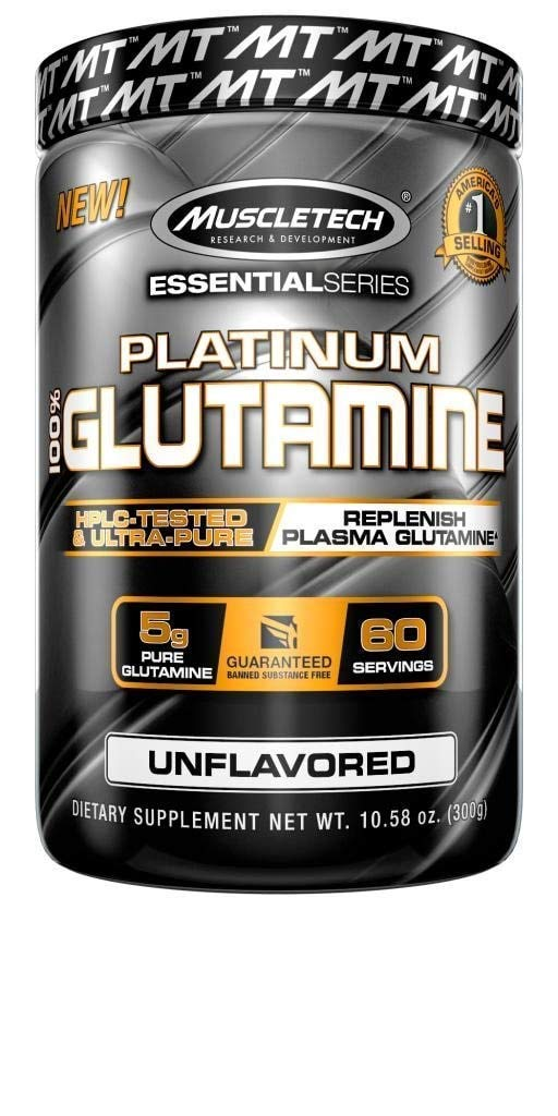 MuscleTech Glutamine Powder, 100% Ultra Pure L-Glutamine for Muscle Endurance & Recovery, 60-Day Supply, 10.58 oz  (302g) by MuscleTech