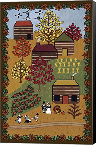 Happy Thanksgiving by Medana Gabbard Canvas Art Wall Picture, Museum