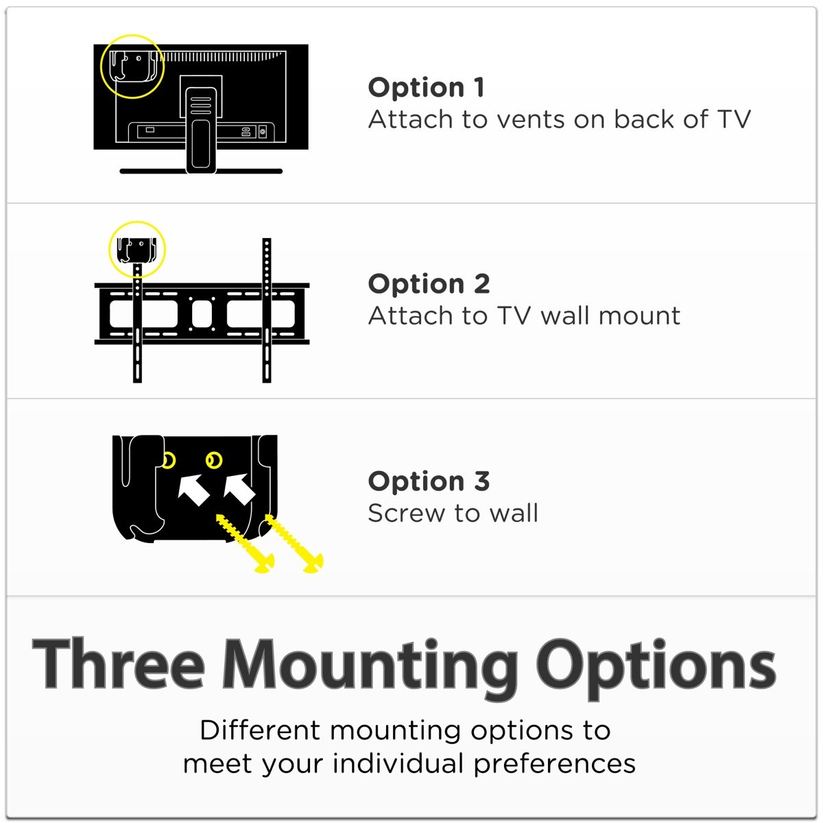 TotalMount Roku Mounting System (Compatible with Roku 3, Roku 2, Roku 1, and Roku LT) by TotalMount (Image #7)