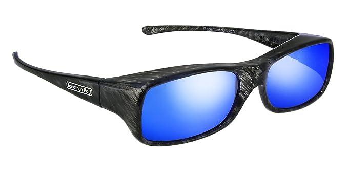 c004235abc Jonathan Paul® Fitovers Mooya Large Polarized Over Sunglasses   Black-Wind    Polarvue Blue