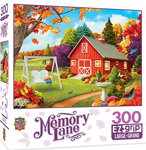 MasterPieces Memory Lane Harvest Breeze Country Barn Large EZ Grip Jigsaw Puzzle by Alan Giana, 300-Piece