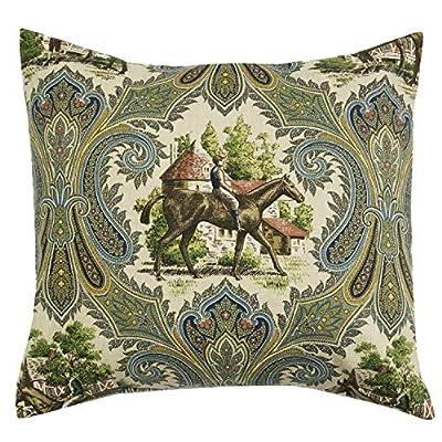 Horse Decor Pillow Covers, Pillow Shams, Throw Pillows Decorative Pillows 18 Inch, Country Rustic Decor Farmhouse Living Room Blue Paisley
