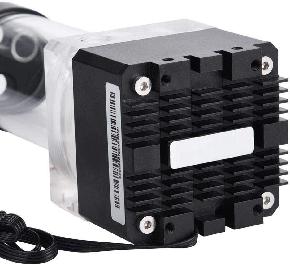 800L//H Mini Water Cooling Pump 0.7A 7V 12cm// 4.72in 17cm// 6.69in Computer Pump 4 Meters Pump Head Fast Heat Dissipation Multi-Level Protection Cool Water Pump 17cm White