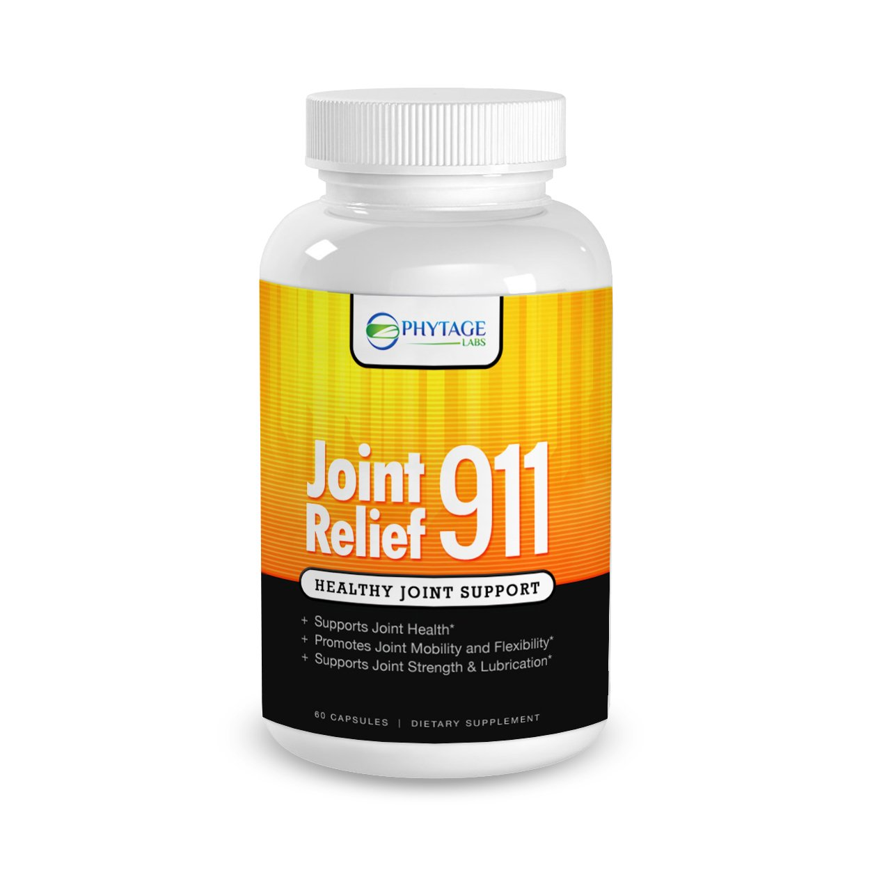 Official Phytage Labs Joint Relief 911 - Joint Pain Relief Health Supplement with Andrographis Paniculata, Hyaluronic Acid - 60 Capsules
