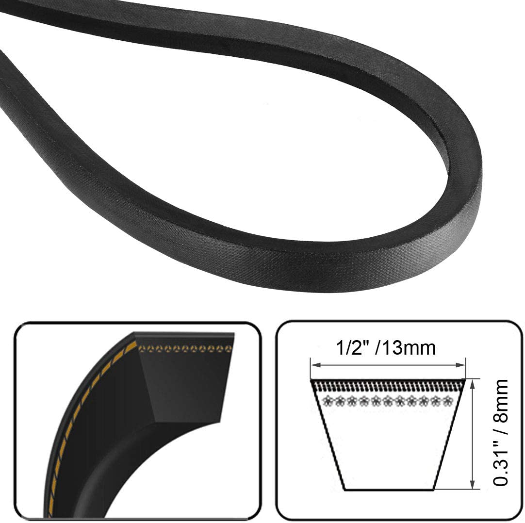 uxcell A-76 Drive V-Belt Girth 76-inch Industrial Power Rubber Transmission Belt