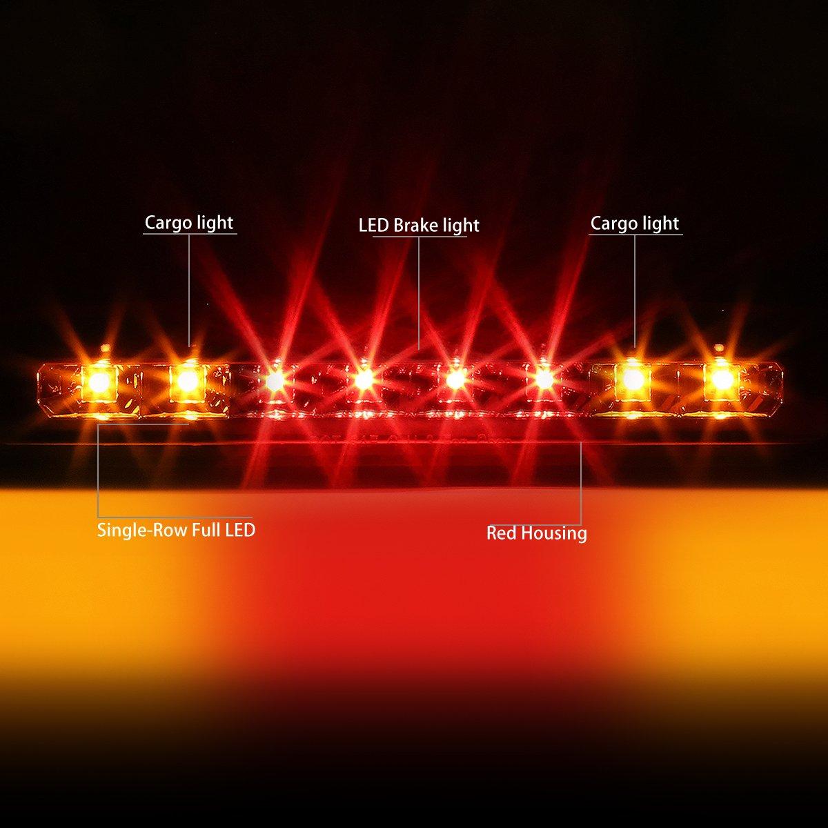 DNA MOTORING 3BL-DKT07-LED-RD Third Brake Light