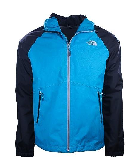 The North Face Mens Enamel Blue TNF Black Boreal Rain Jacket at Amazon  Men s Clothing store  c830601ef