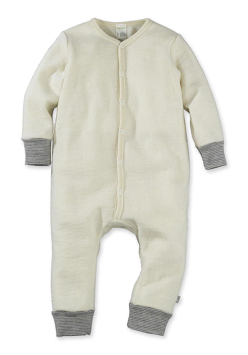 hessnatur Baby Mädchen und Jungen Unisex Wollfrottee Overall aus Reiner Bio-Schurwolle