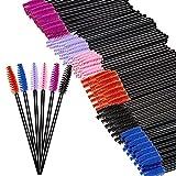 Jaciya 300 Pack Mascara Wands Eyelash Brushes Eye Lash Makeup Applicators Brush Kit, 6 Colors