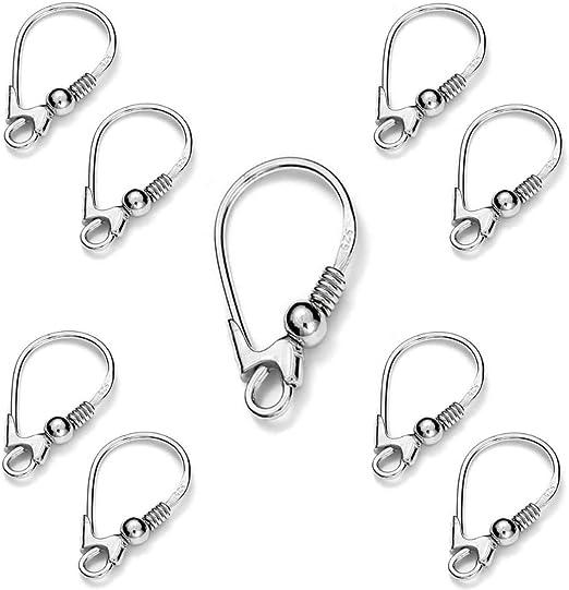 My-Bead 1 pair earrings leverback hooks 18mm 925 sterling silver nickel-free findings