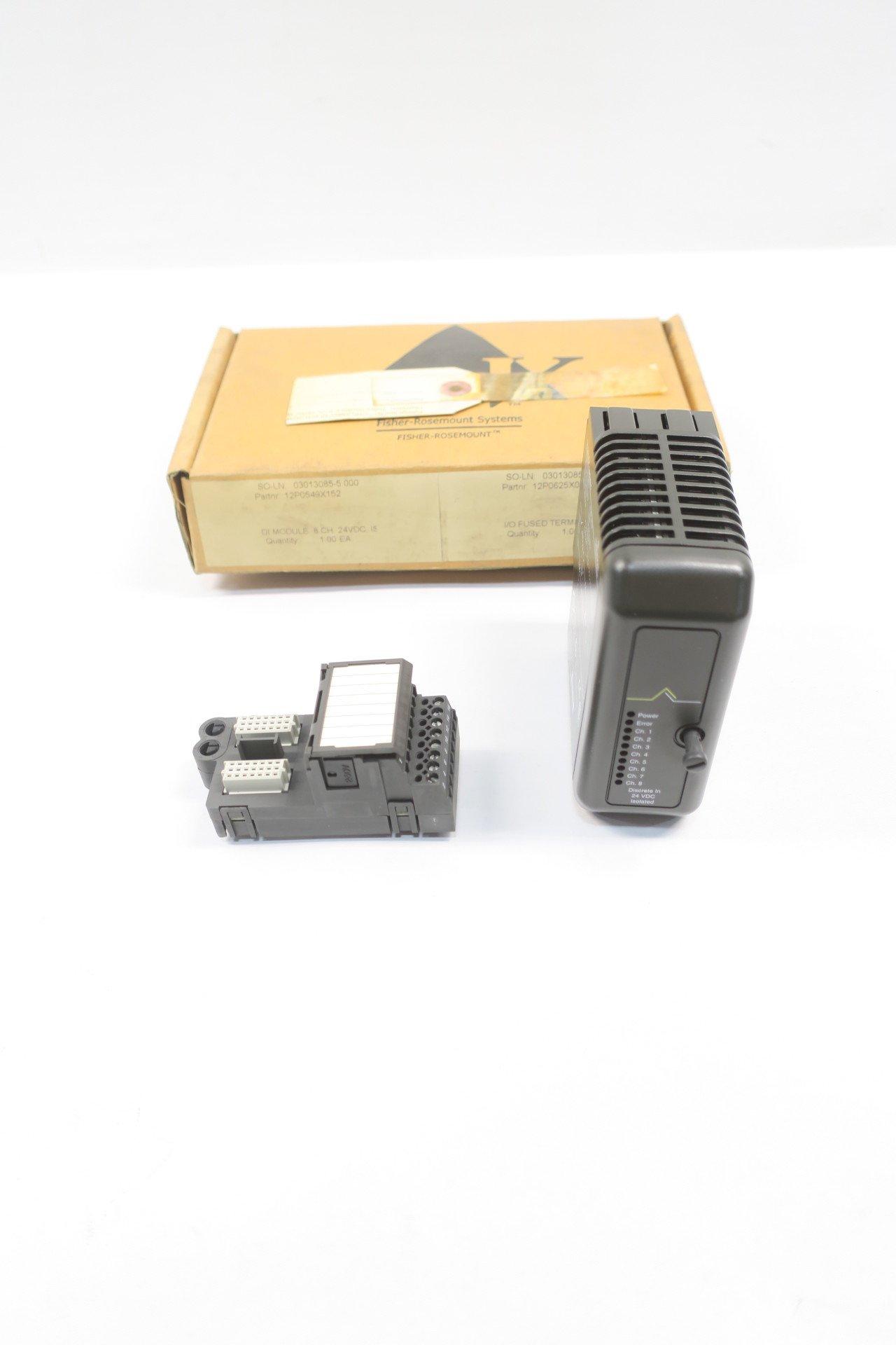 NEW EMERSON KJ3001X1-BA1 DI ISOLATED CARD REV G I/O MODULE D587414