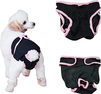 Dog Diapers for Female Small Dogs No Tail Hole Premium Reusable Dog Panties Washable Wonders Dog Diapers for Female Pink XS Absorbent Dog Diapers for Female