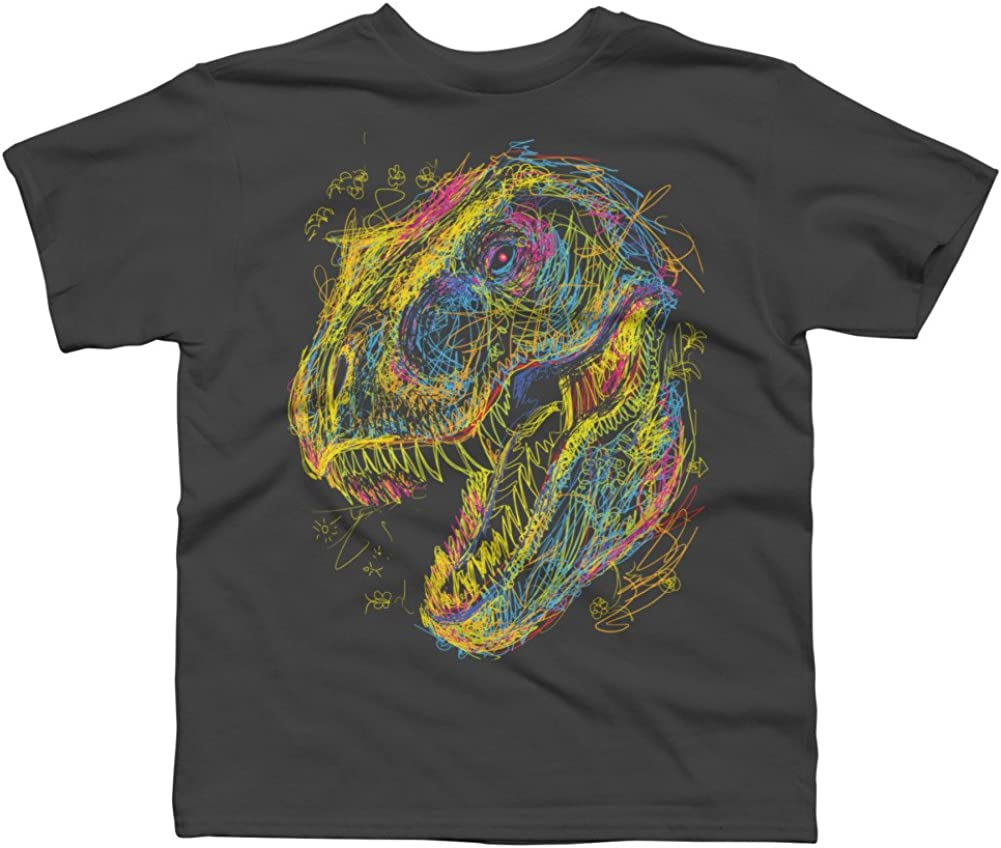 Design By Humans Kids Draw T-Rex Boys Youth Graphic T Shirt