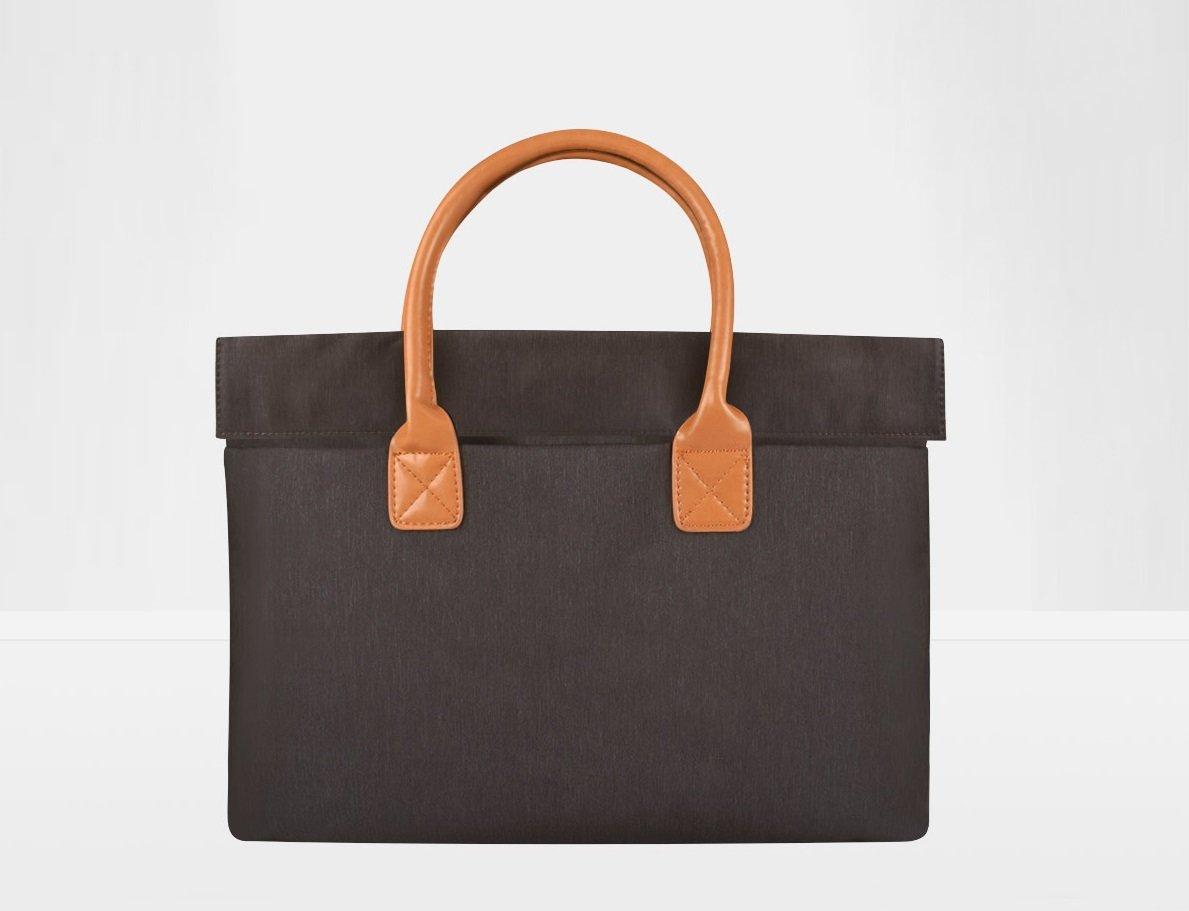 Dor's Trading Nylon Fabric Laptop Case Cover Bag and Tablet Bag Messenger Slim Sleeve Case Handbag Briefcase for Unisex for 13/14/15 Inch MacBook Air/Pro, Notebook Computer, Dark Grey