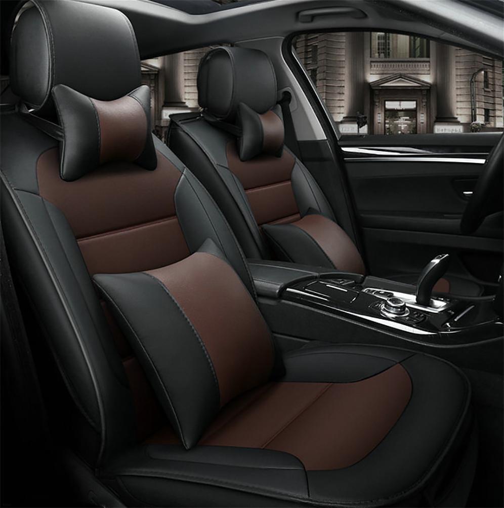DIELIAN Auto Sitzbezug Auto Sitzkissen 5 Sitze Full Set-Leicht zu reinigen PU Leder