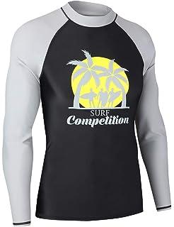 27696972af8 MZ Garment Rash Guard Men UV Sun Protection Basic Skins Long Sleeve Crew  Sun Shirt Surfing