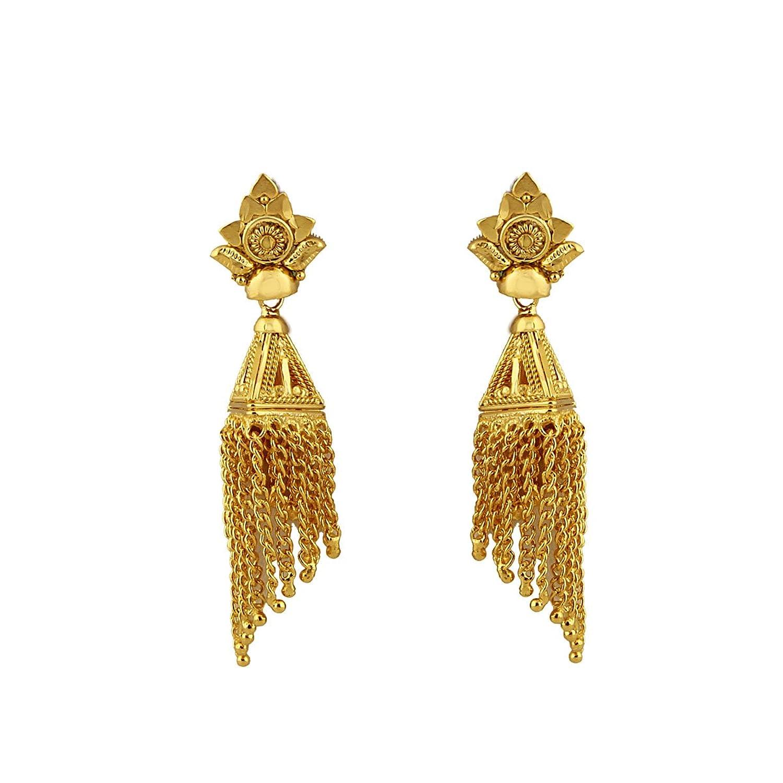 Heena Trendy collection golden earings: Amazon.in: Jewellery