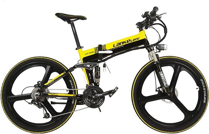 LANKELEISI XT750GD Bicicleta Eléctrica Magnesio Integrada Llanta ...