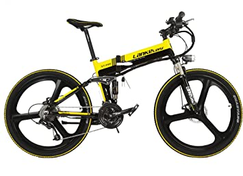 LANKELEISI XT750GD Bicicleta Eléctrica Magnesio Integrada Llanta 240 W 48 V 5 Gear Cambio de Velocidad Shimano Potente Bicicleta de Montaña MTB, ...