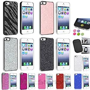 Color Bling Diamond Luxury Hard Cover Case+Anti-Slip Mat+Sticker For iPhone 5 5S