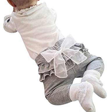 18b837ec92efa MIOIM キッズ レギンス パンツ 子供 フリル リポン付き スパッツ ぽかぽか暖かい 子供服 女の子 ガールズ ロング