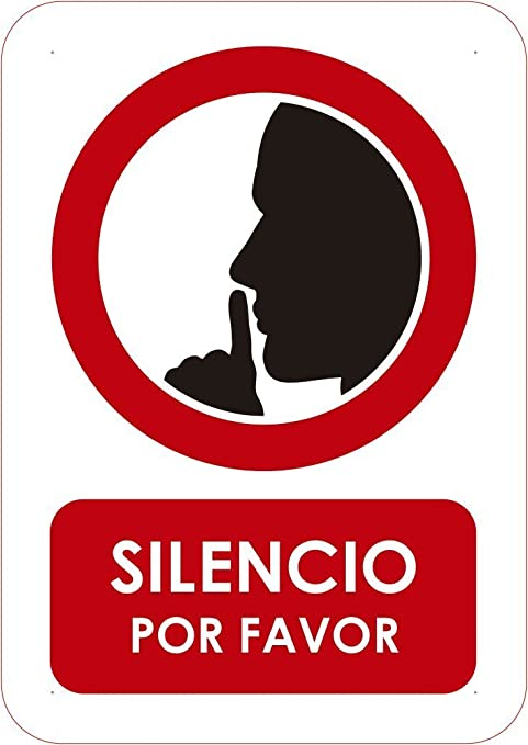 Oedim Señal Silencio por Favor | Tamaño A5 (14,80x21cm ...