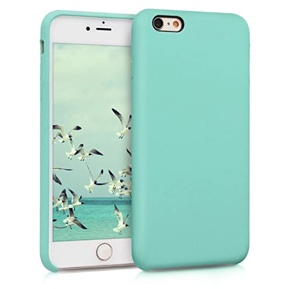 kwmobile TPU Silicone Case for Apple iPhone 6 Plus / 6S Plus - Soft Flexible Rubber Protective Cover - Mint Matte