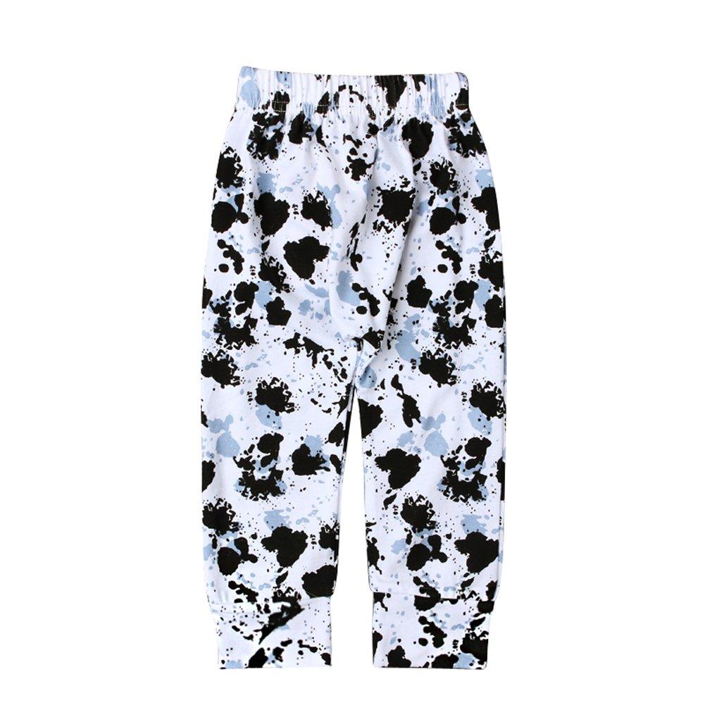 EITC Baby Boy Girl Casual Pants Fashion Splash-ink Long Trousers Leisure Legging