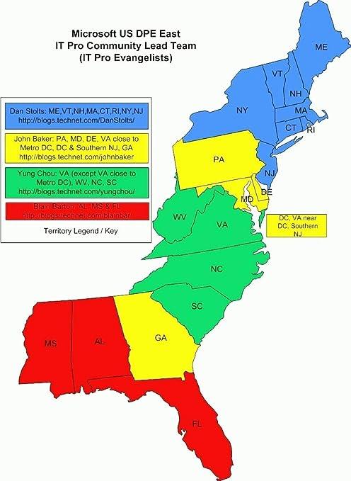 Map Of America East Coast