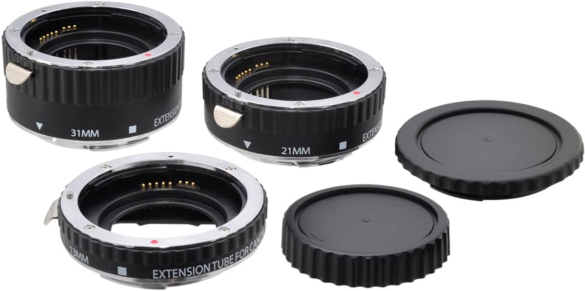 Xit XTETS Auto Focus Macro Extension Tube Set for Sony SLR Cameras Black