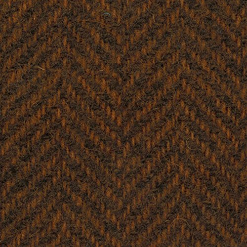 Primitive Gatherings Hand Dyed Wool Pumpkin Herringbone 15 inch x 25 inch Cut Piece Moda PRI (Hand Dyed Quilt Fabric)